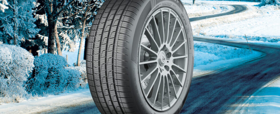 Tire on background